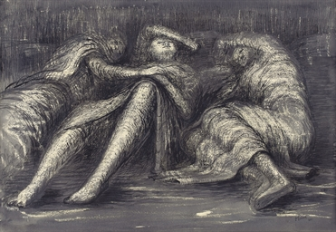 Three Figures Sleeping, or She