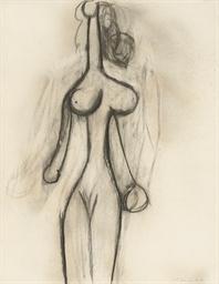 Femme nue debout, vue de face