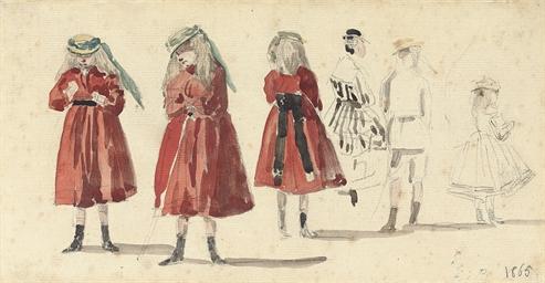 Petites filles en robe rouge