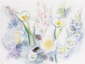 Bouquet de fleurs aux arums