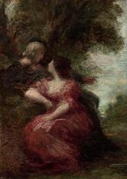 Troubadour et sa dame