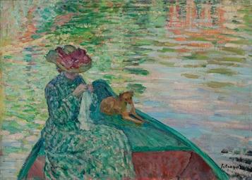 Jeune fille à la barque