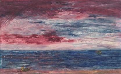 Marine soleil couchant
