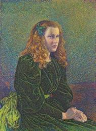 Jeune femme en robe verte (Ger