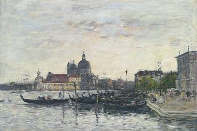Venise. Le môle à l'entrée du