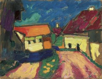 Landschaftstudie - Dorfstrasse