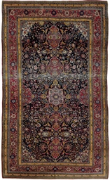 A fine unusual Isfahan carpet