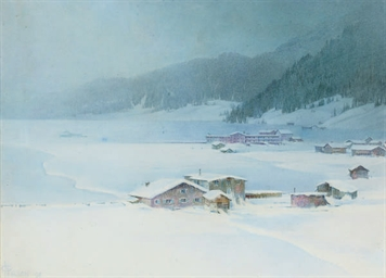In winter garb, Davos