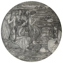 Orpheus wooing Eurydice