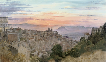 THE SUNSETTING OVER CAPRAROLA
