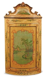 A VENETIAN PAINTED WOOD CORNER