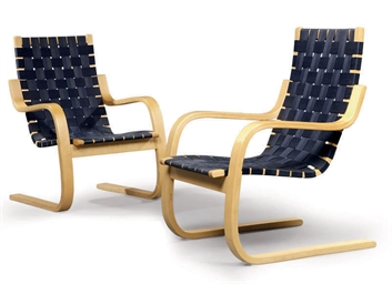 A PAIR OF 'MODEL 406' CHAIRS B