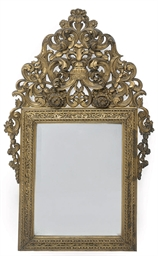 A FRENCH GILTWOOD WALL MIRROR