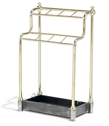 AN ENGLISH BRASS STICK-STAND