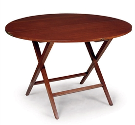 A WALNUT COACHING TABLE