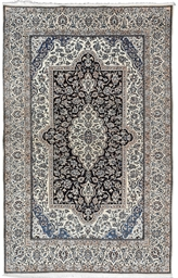 A FINE PART SILK NAIN CARPET,