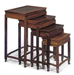 A SET OF CHINESE ROSEWOOD OCCA