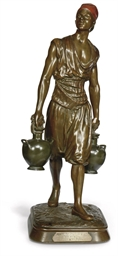 A FRENCH BRONZE FIGURE 'PORTEU