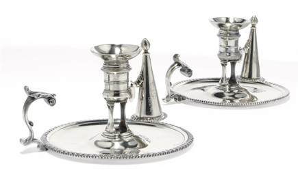 A PAIR OF GEORGE II SILVER CHA