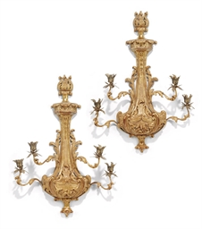 A PAIR OF GILTWOOD AND GILT-ME