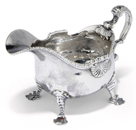 A GEORGE III SILVER SAUCEBOAT