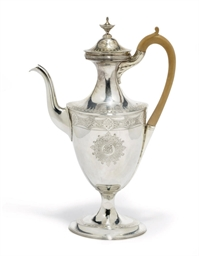 A GEORGE III VASE-SHAPED SILVE