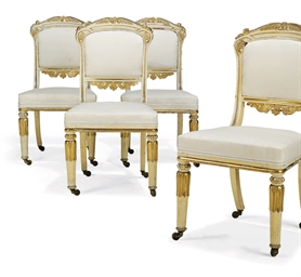 A SET OF FOUR WILLIAM IV WHITE