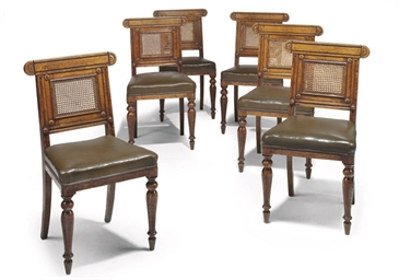 A SET OF EIGHT GEORGE IV OAK D