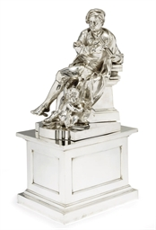 AN ELECTROPLATED STATUETTE, PR