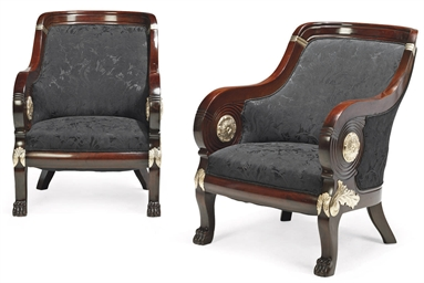 A PAIR OF DANISH MAHOGANY AND