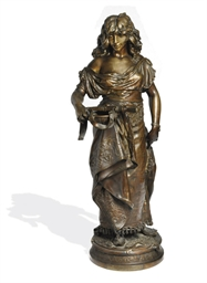 A FRENCH BRONZE FIGURE OF A LA
