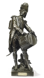 A FRENCH BRONZE FIGURE OF AN I