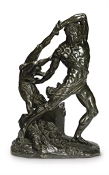 AN ITALIAN BRONZE GROUP OF HER