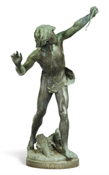 A FRENCH BRONZE MODEL OF ACTEO