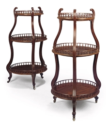 A PAIR OF FRENCH MAHOGANY DUMB