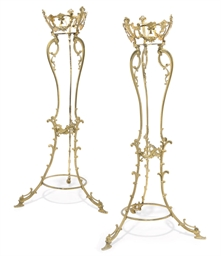 A PAIR OF FRENCH GILT-METAL JA