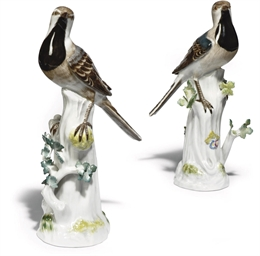 A PAIR OF MEISSEN MODELS OF WA