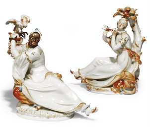 A PAIR OF MEISSEN FIGURES OF E