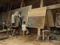 Artist Executing Designs for the Worlds Columbian Exposition, Chicago, 1893