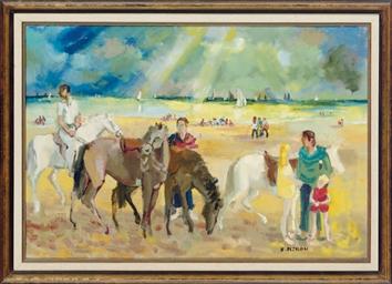 Les chevaux sur le plage