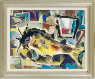 Still life with a fish and a g