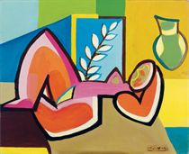 A Cubist reclining nude