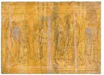 Walking in the Subway Station (recto); study of figures (verso)