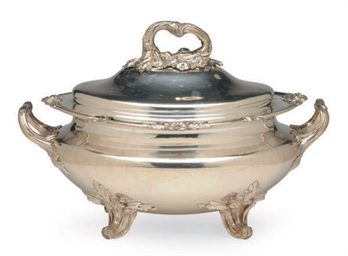 AN ENGLISH SILVER-PLATED OVAL