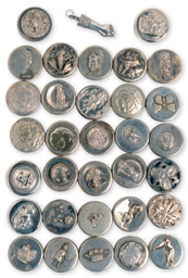 THIRTY-TWO VICTORIAN SILVER-PL