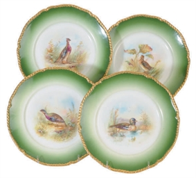 A SET OF EIGHT FRENCH PORCELAI