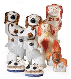 EIGHTEEN STAFFORDSHIRE ANIMALS