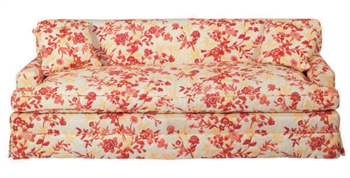 A FLORAL UPHOLSTERED SOFA,