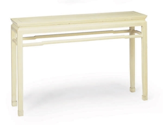 A CREAM PAINTED ALTAR TABLE,