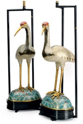 A PAIR OF CHINESE CLOISONNE CR